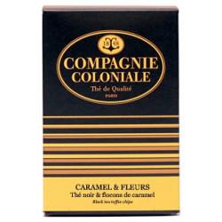 Thé noir aromatisé, caramel et fleurs - Boite de 25 berlingots (50g)