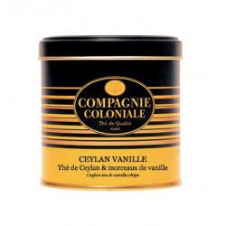 Thé Noir Ceylan Vanille - Boite luxe de 150g