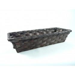 Corbeille bambou rectangle marron