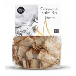 Craquants salés Bio au sésame - sachet de 150g