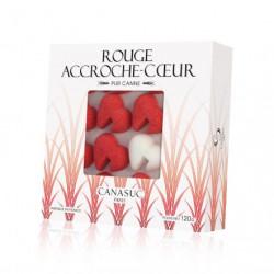 Boite fenêtre sucres Coeurs Rouge s et Blancs - 120g