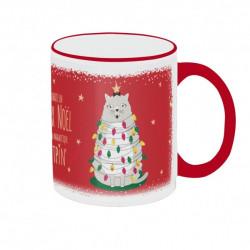 """Mug """"Chat-Pin de Noël"""""""