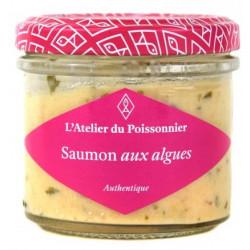 Rillettes de saumon aux algues, pot de 90 g