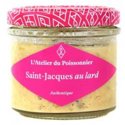 Rillettes de St Jacques au lard, pot de 90g