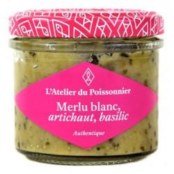 Tartinable de Merlu blanc, artichaut, basilic, pot de 90 g