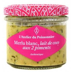 Rillettes de Merlu blanc, lait de coco, aux 2 piments, pot de 90 g