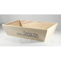 "Corbeille Bois ""Rendez-vous Gourmand"""