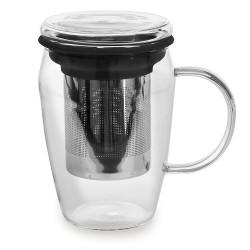 Mug infuseur 43 cl borosilicate noir
