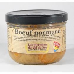 Bœuf normand aux carottes et aux pruneaux - Bocal de 380g