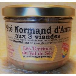 Pâté Normand d'Antan aux 3 viandes - pot de 190g