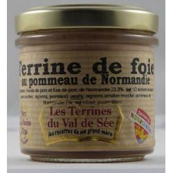 Terrine de foie au pommeau de Normandie - Bocal de 90g