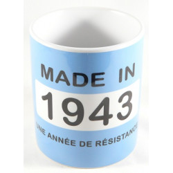 Mug année 1943 + Texte
