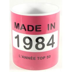 Mug année 1984 + Texte