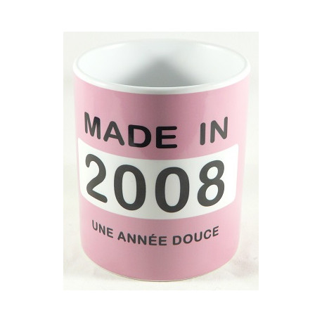 Mug année 2008 + Texte
