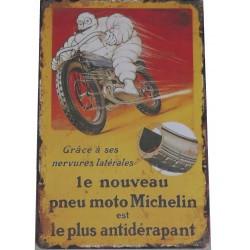 """Plaque Métal """"Michelin"""""""
