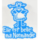 """Magnet """"Elle est belle ma Normandie"""" -  bleu"""