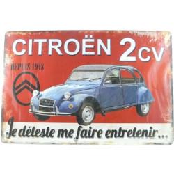 Plaque Citroën 2CV