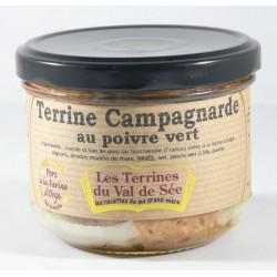 Terrine Campagnarde au Poivre Vert - bocal de 190g
