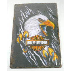 """Plaque Métal """"Harley tete aigle"""""""