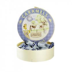 Caramels Beurre salé - Boite ronde bois de 75g