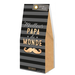 """Lentilles au chocolat """"Meilleur Papa du Monde"""" 80g"""