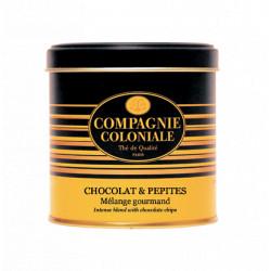 Thé noir Chocolat et Pépites, Boîte métal luxe de 120g