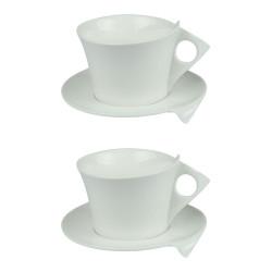 Coffret 2 Déjeuners + Soucoupes 30cL Libra Blanc