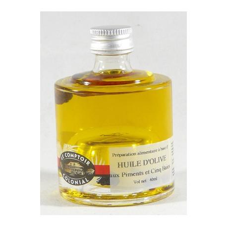 Mini empilable Huile d'Olive aux Piments et 5 Baies - 40mL