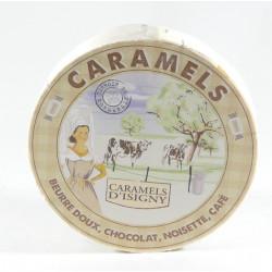 "Caramels Assortiment ""Tradition"" - Boîte bois ""camembert"" de 150g"