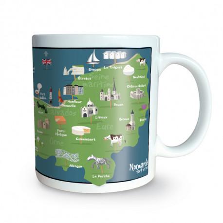 Mug Carte Normandie