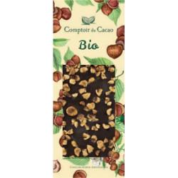 Tablette Chocolat Noir Noisettes Bio 90g