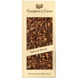 Tablette Chocolat Lait Noix de Pécan Caramélisées 90g