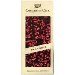 Tablette Chocolat Lait Framboises 90g