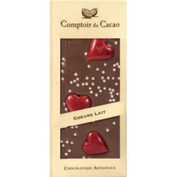 Tablette Chocolat Noir Coeur 90g