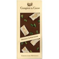 Tablette Chocolat Noir Nougat et Pistaches 90g