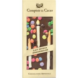 Tablette Chocolat Lait Anniversaire 90g