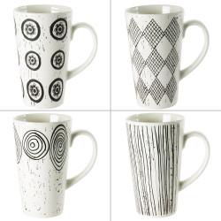 Coffret 4 Mugs Palawan 34cL