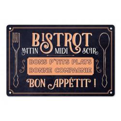 """Plaque Métal """"Bon Appétit"""""""