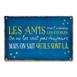 """Plaque Métal """"Les Amis Les Etoiles"""""""