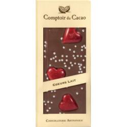 Tablette Chocolat Lait Coeur 90g