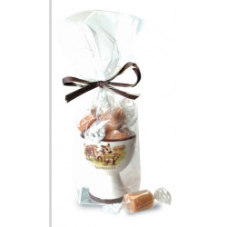 Coquetier + 35g Caramels Isigny