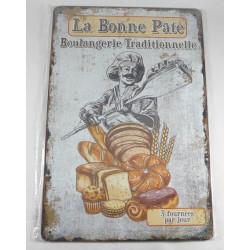 """Plaque Métal """"La Bonne Pâte"""""""
