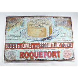 """Plaque Métal """"Rocquefort"""""""