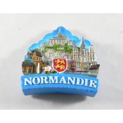 Magnet 3D Normandie résine Laqué