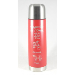Bouteille Isotherme 24h Rouge avec bol - 500mL