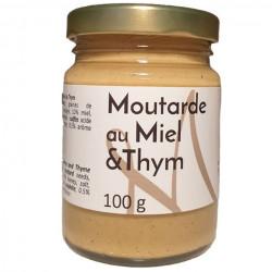 Moutarde au thym et à l'ail - Pot de 100g