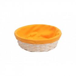 Corbeille Bambou Ronde/ Tissu Orange